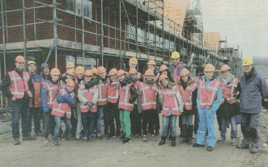 Leerlingen maken kennis met de bouw