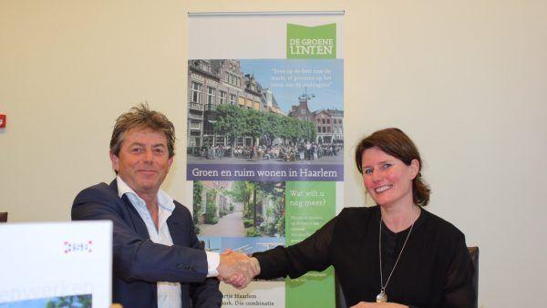 Contractondertekening fase 4 Groene Linten, Haarlem