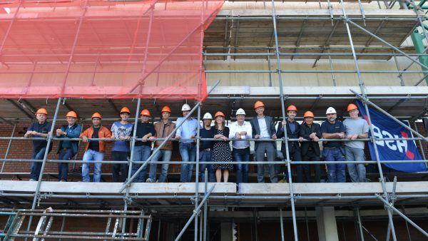 Succes HSB metselschool gevierd op project Romanov