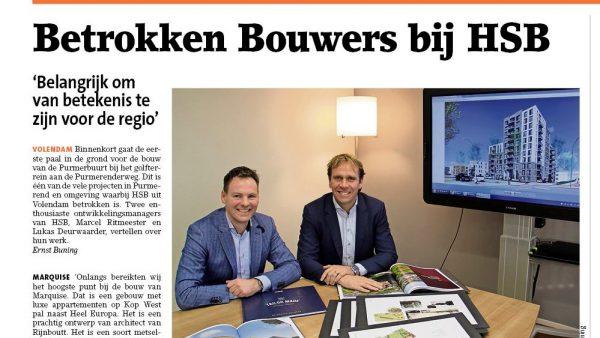 Interview Gezinsblad: 3 HSB projecten Purmerend
