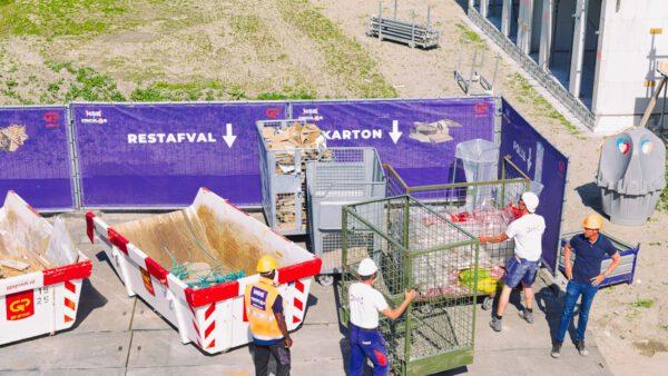Afval scheiden op project Vroonermeer