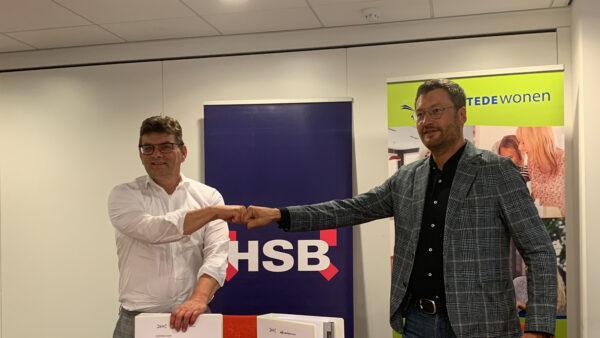 Contractondertekening HSB en LEKSTEDEwonen