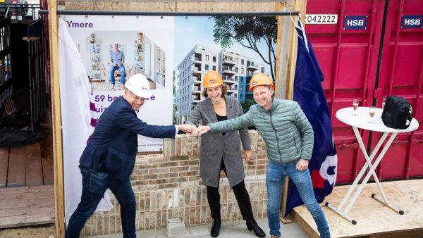 Start bouw Elzenhagen in Amsterdam-Noord